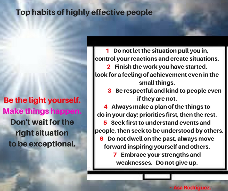 Top habits of effective people