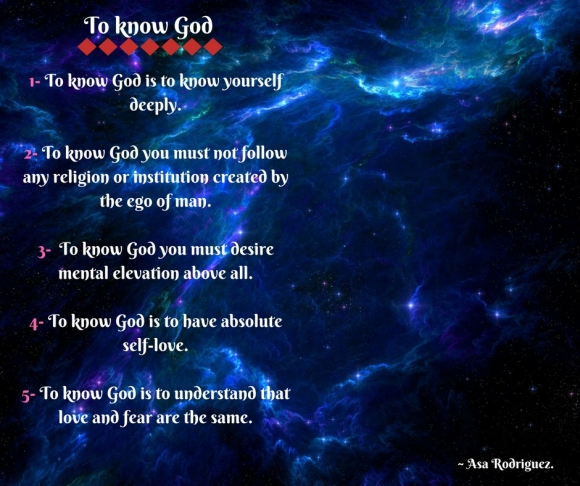 How to know God(1)