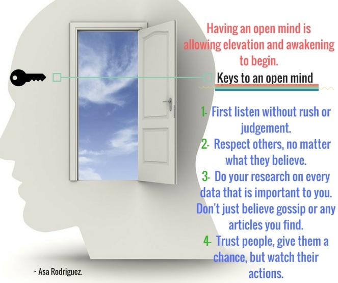 Keys to an open mind
