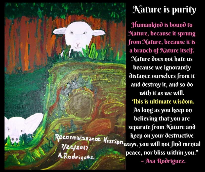 Nature is purity