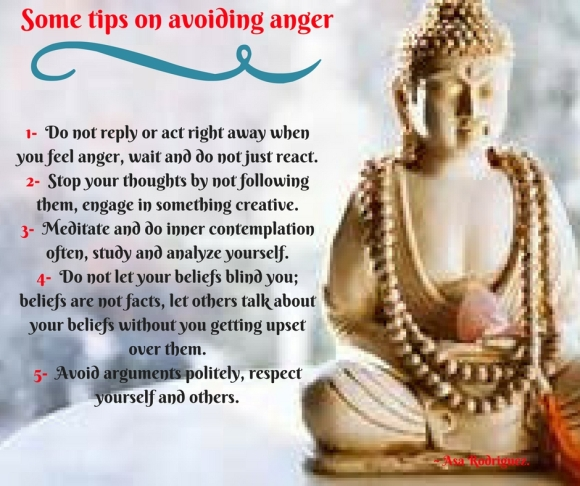 Tips on avoiding anger