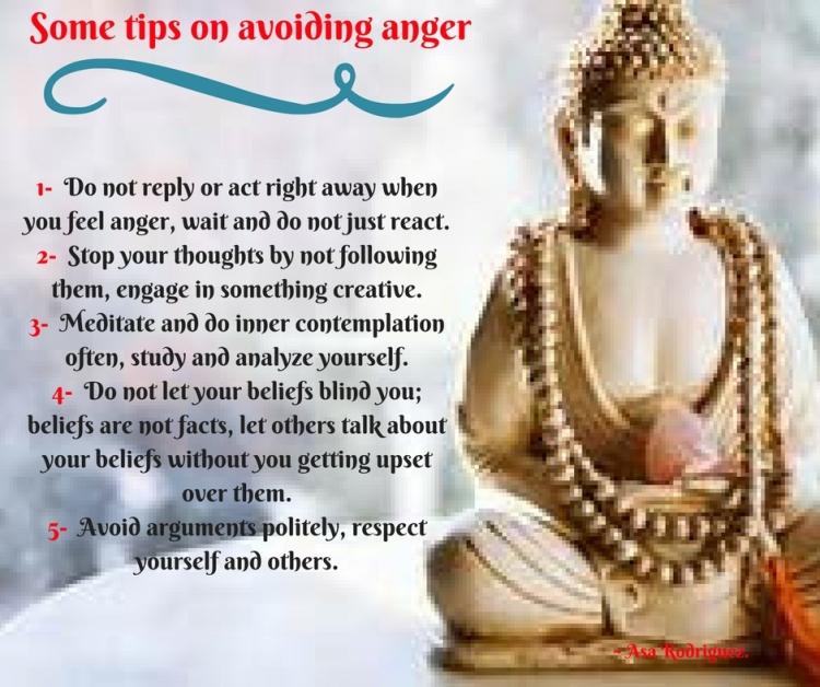 Tips on avoiding anger