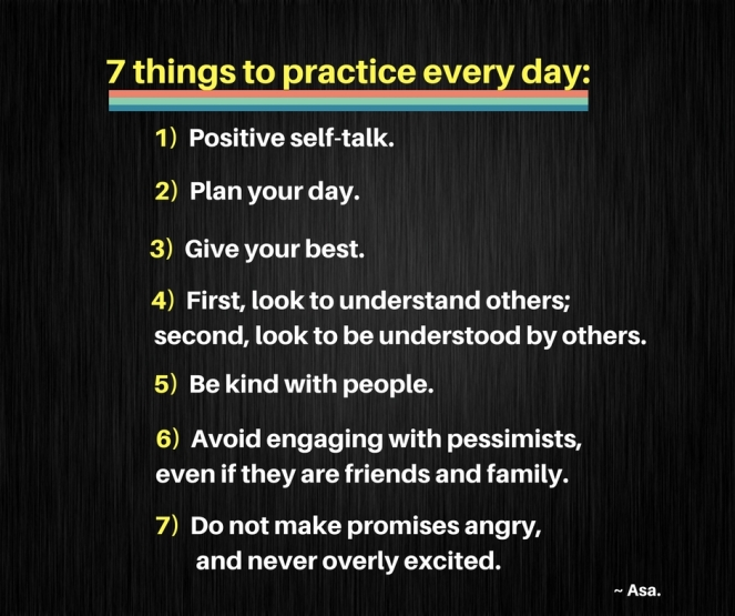 Five things to practice every day_